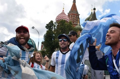 argentinos en Rusia 2018 AFP