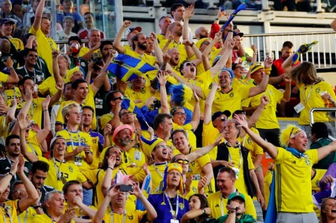 Hinchas de Suecia