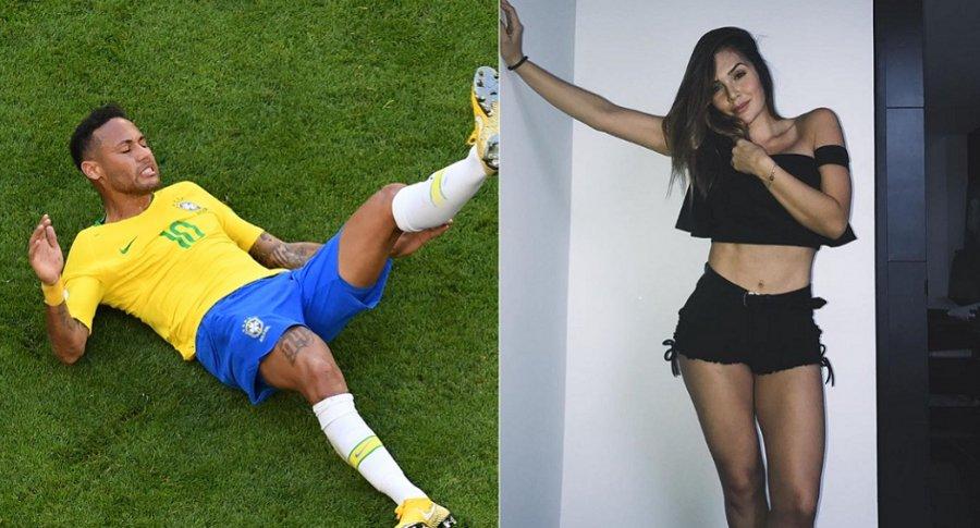 Neymar, futbolista, y Lina Tejeiro, actriz.