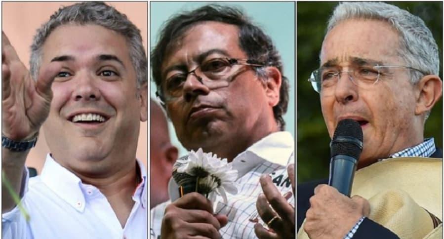 Iván Duque, Gustavo Petro y Álvaro Uribe