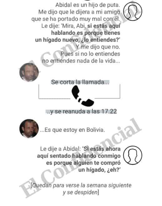 Transcipción de la conversación de Sandro Rosell  y 'Juanjo'