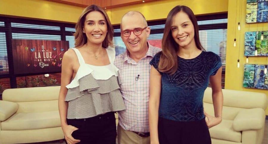 Jota Mario, Laura Acuña y Adriana Betancur, presentadores.