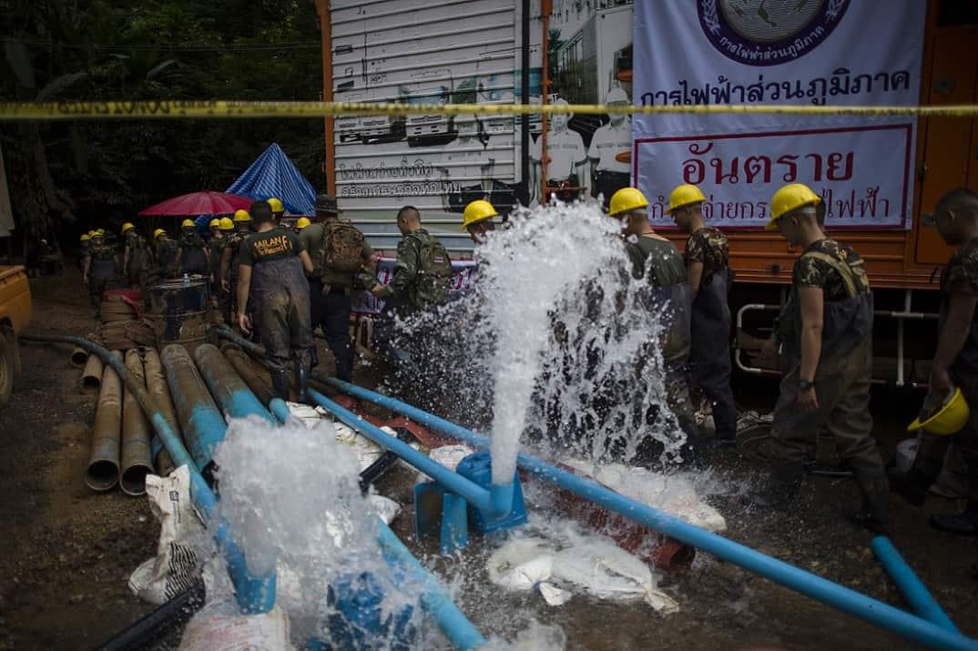 Rescate de niños atrapados en Tailandia