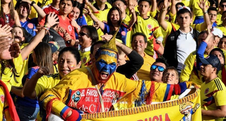 Homenaje a la Selección Colombia en El Campín