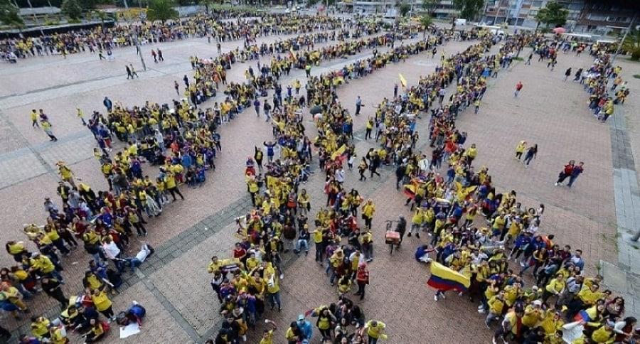 Hinchas de la Selección Colombia en El Campín