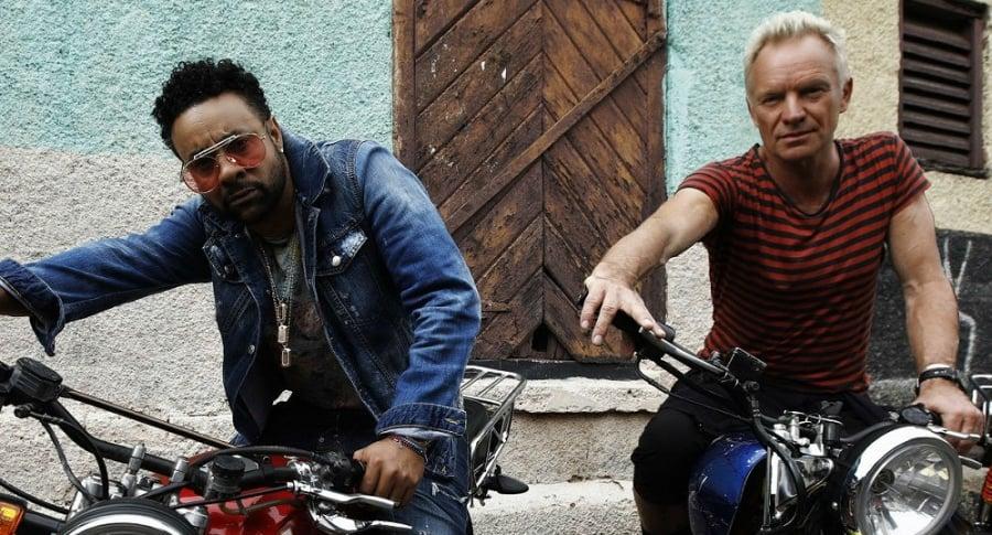 Shaggy y Sting, cantantes.