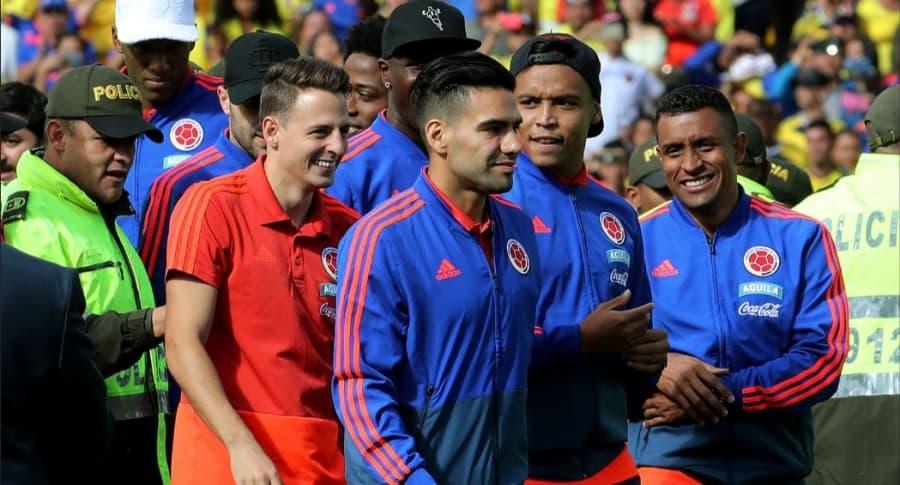 Recibimiento a Selección Colombia