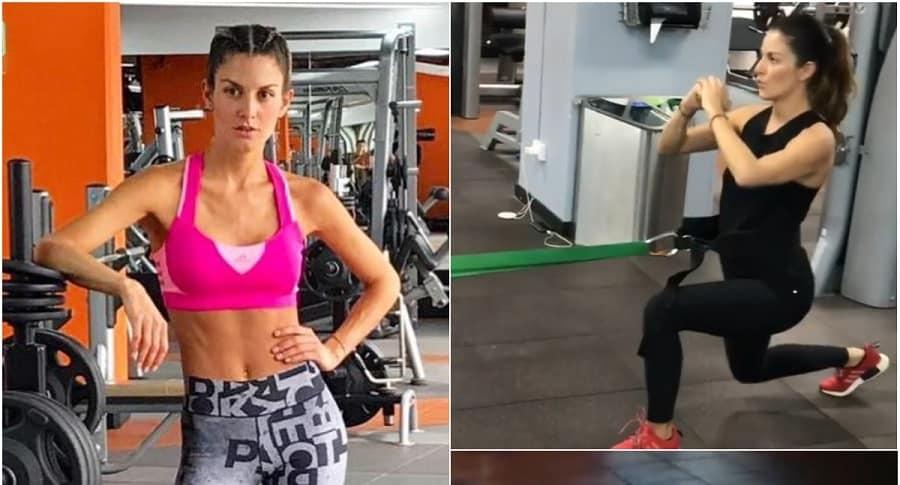 Natalia Jerez haciendo ejercicio