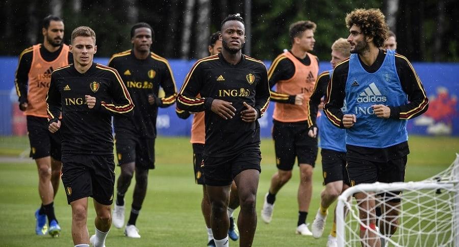 Entrenamiento de la selección belga
