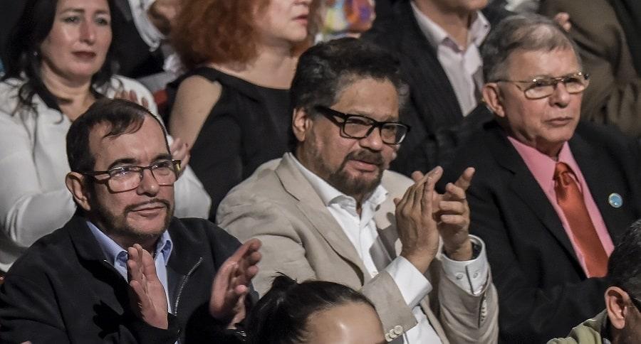 Rodrigo Londoño, Iván Márquez y Rodrigo Granda
