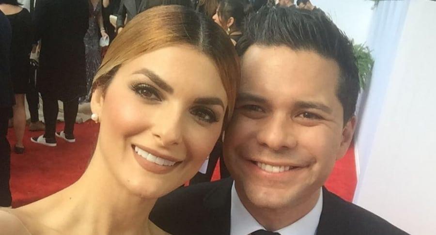 Siad Char, presentadora, con su esposo Luis Carlos Vélez, periodista.