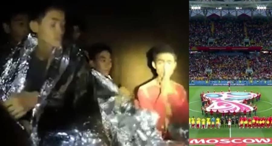 Niños atrapados en Tailandia y ceremonia Mundial