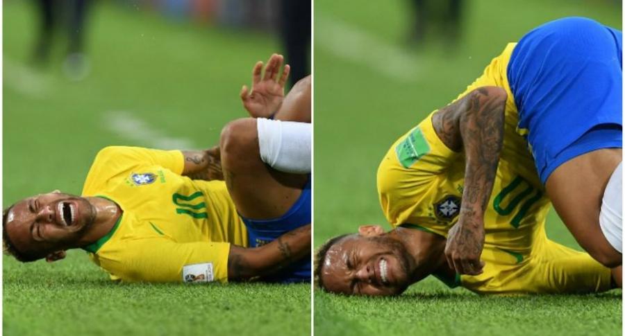 Caída de Neymar.