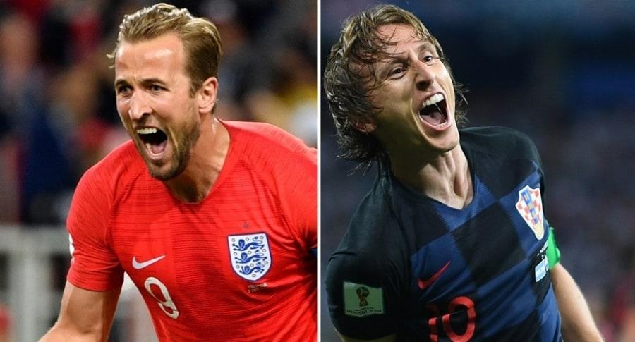 Harry Kane (Inglaterra) y Luka Modric (Croacia)