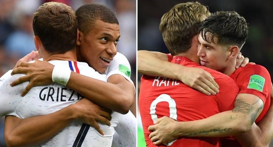 Selecciones de Francia e Inglaterra
