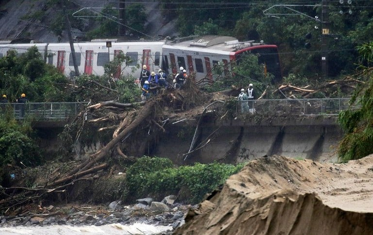 JAPAN-WEATHER-RAIN-FLOOD-LANDSLIDE-TOLL