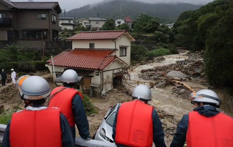 Lluvias en Japón