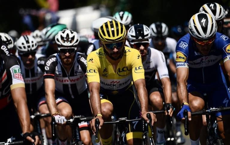 Fernando Gaviria en la segunda etapa del Tour de Francia