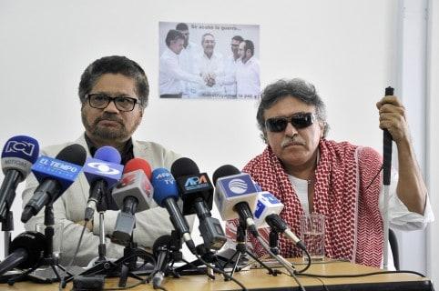 'Iván Márquez' y 'Jesús Santrich', líderes de la Farc.