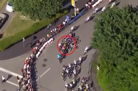 Caída masiva Tour de Francia.