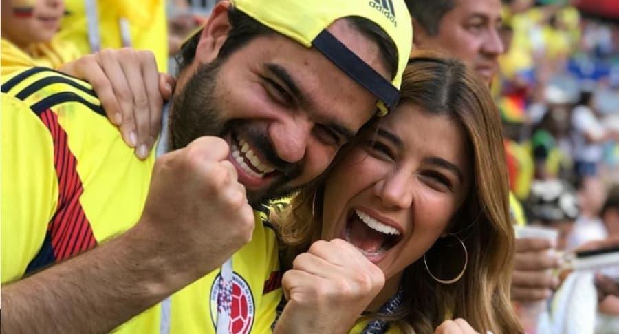Andrea Jaramillo, presentadora, y su prometido Felipe Restrepo.