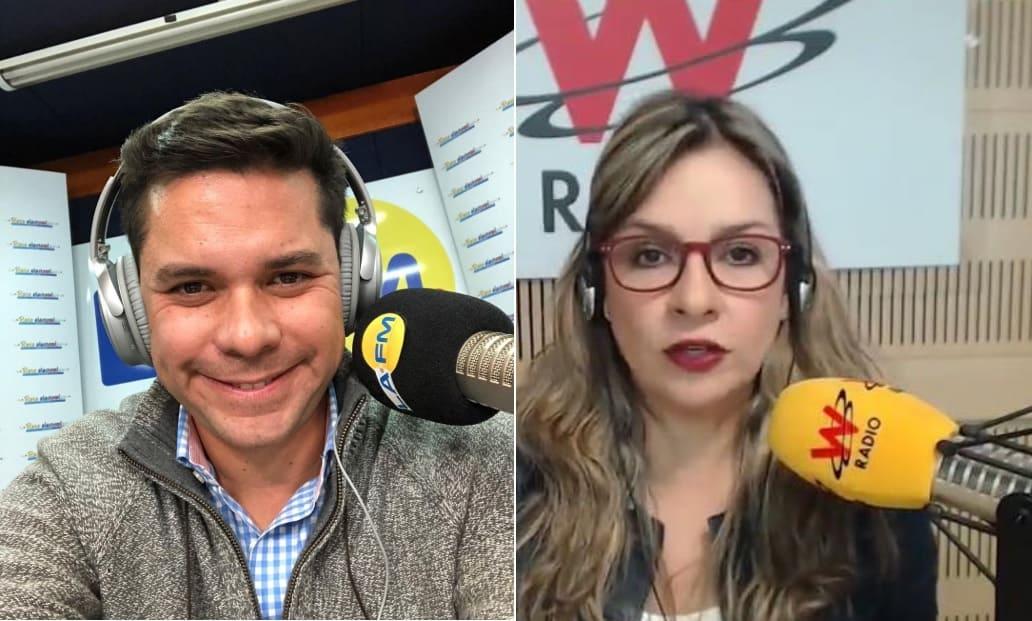 Vicky Dávila y Luis Carlos Vélez cruzan trinos por audios de Roberto Prieto
