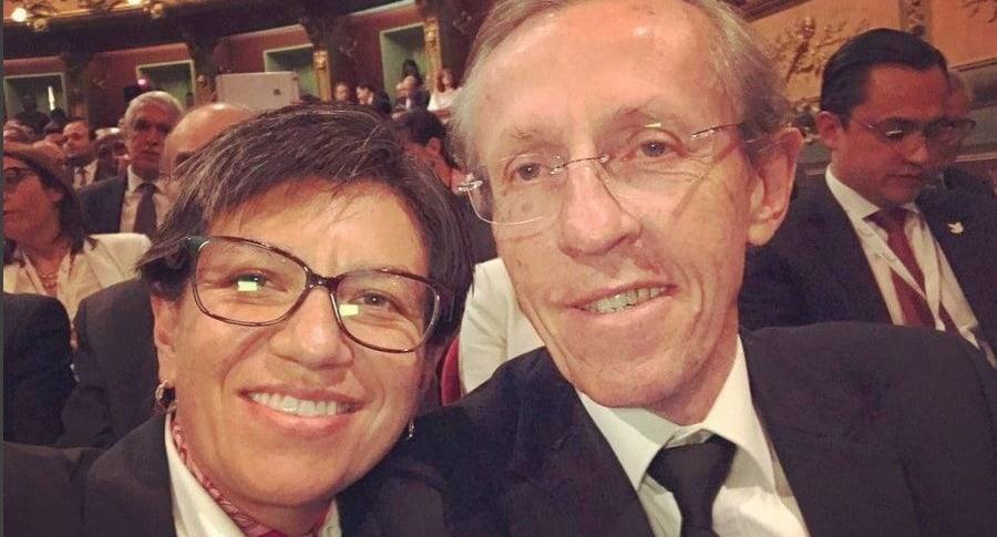 Claudia López y Antonio Navarro