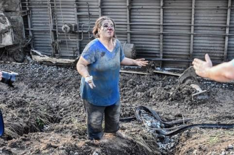 Mujer herida luego de accidente de tren en Turquía.