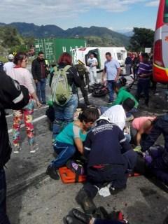 Accidente Bogotá - La Vega