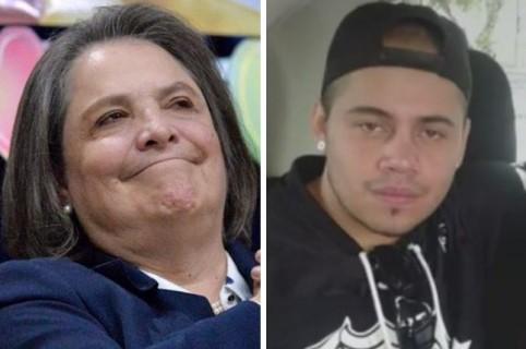 Clara López, excandiata vicepresidencial, y su ahijado asesinado Mario Felipe Chávez Sánchez