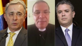 Sacerdote contra Uribe y Duque