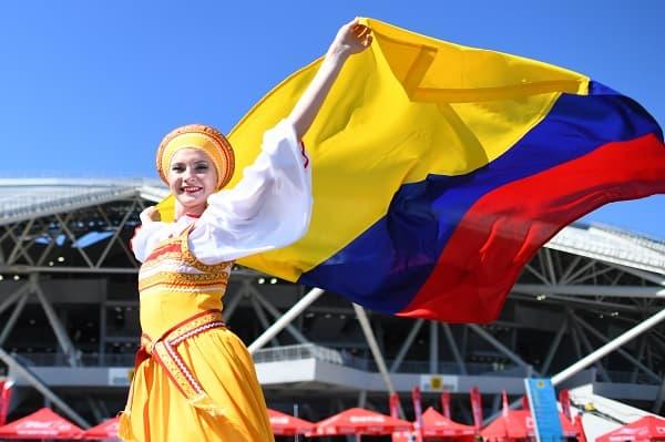 Hincha colombiana en Rusia