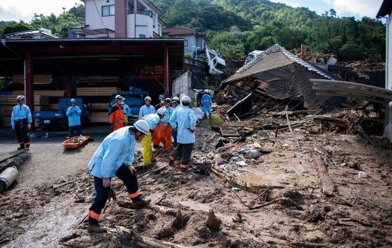 Efectos de las lluvias en Japón