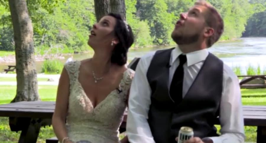 Pareja de recién casados.