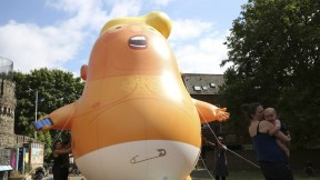 Inflable de Donald Trump