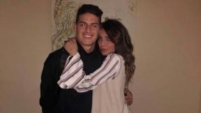 James Rodríguez Rubio, futbolista, y su hermana Juan Valentina Restrepo Rubio, modelo.