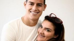 James Rodríguez y su mamá