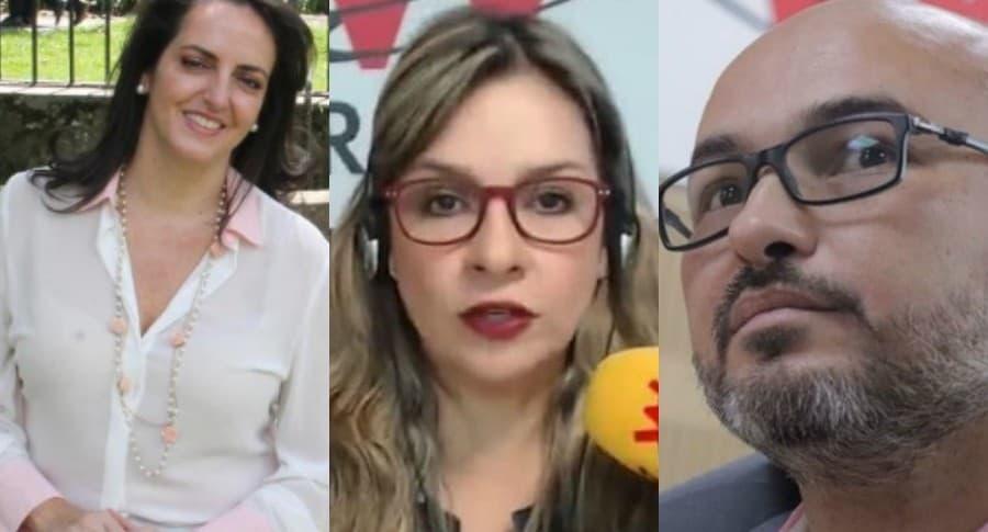 María Fernanda Cabal, Vicky Dávila y Francisco Tolosa