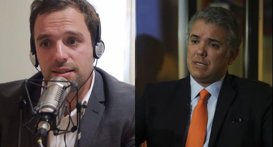 Luis Ernesto Gómez e Iván Duque