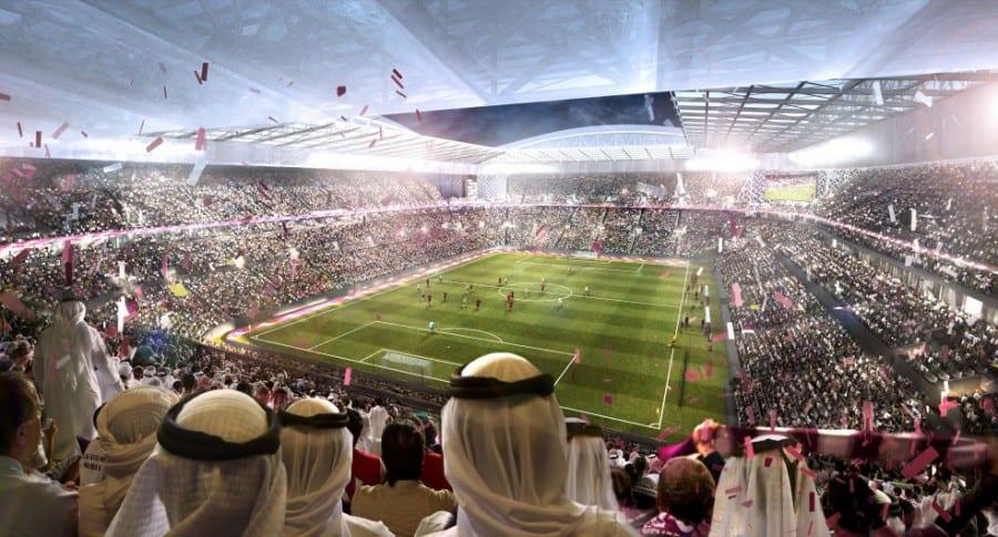 Rénder de un estadio de Catar