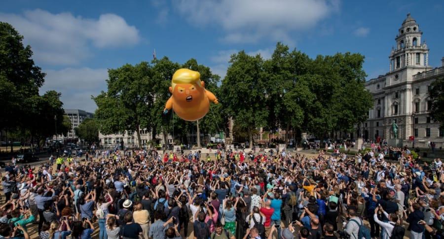 Manifestación contra Donald Trump en Londres