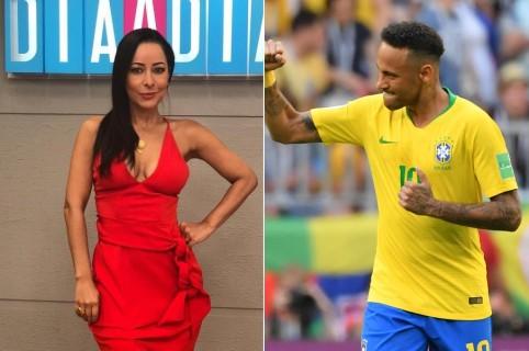 Flavia Dos Santos, sexóloga, y Neymar, futbolista.