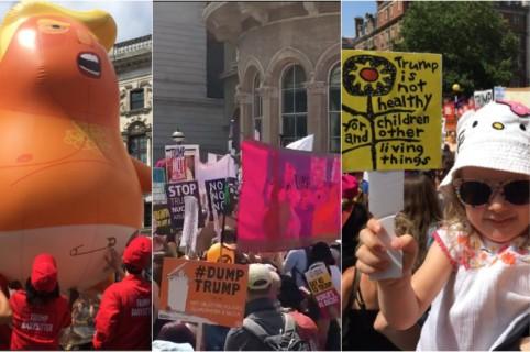 Protestas Trump Londres