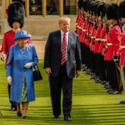 La reina Isabell y Donald Trump