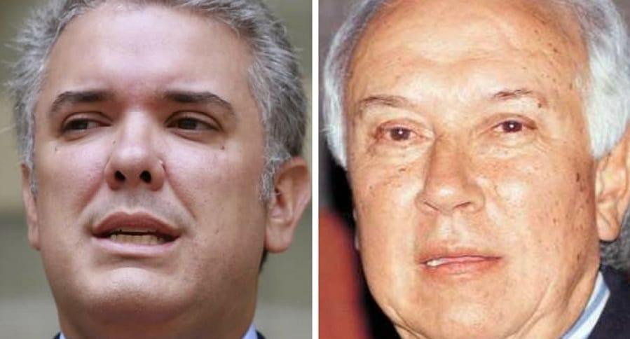 Ivan Duque Márquez y su padre Iván Duque Escobar