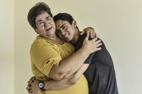 Jossimar y su mamá