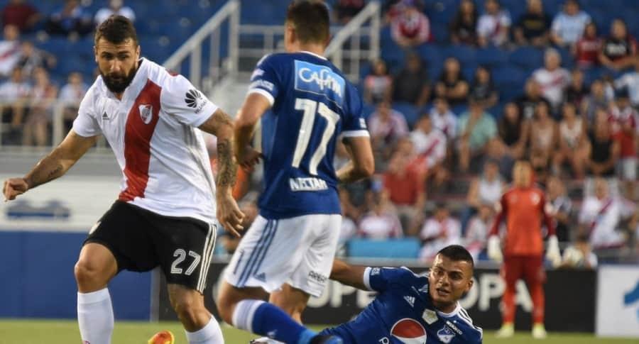 Partido amistoso entre Millonarios y River Plate