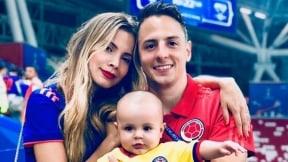 Karin Jiménez y Santiago Arias con su hijo Thiago