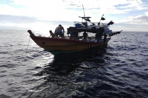 Lancha en el Pacífico