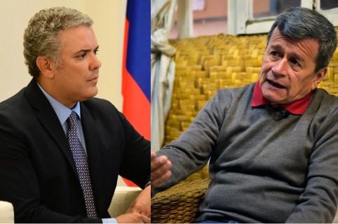 Iván Duque y 'Pablo Beltrán'